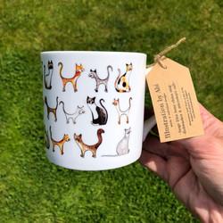 Cat bone china mug