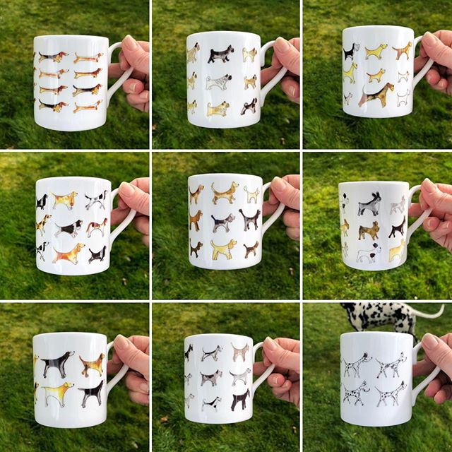 Dog Breed Bone China Mugs