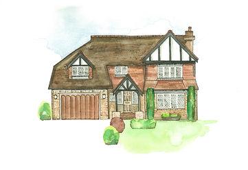 House illustraton '44 Paul's Place'