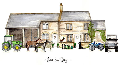 House lllustration 'Brook Farm Cottage'