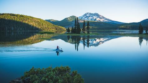 Sparks Lake Paddleboarder
