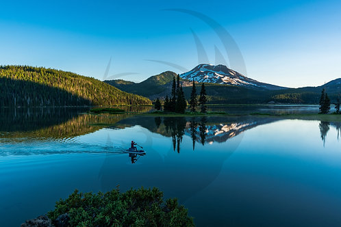 Sparks Lake Paddle Boarder