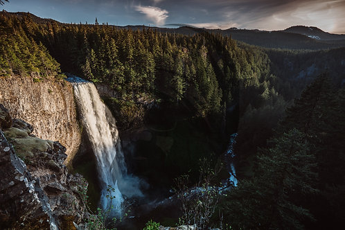 Salt Creek Falls Sunset Glow
