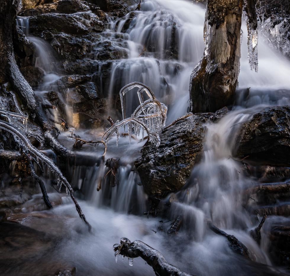 Tumalo Falls Frozen Art