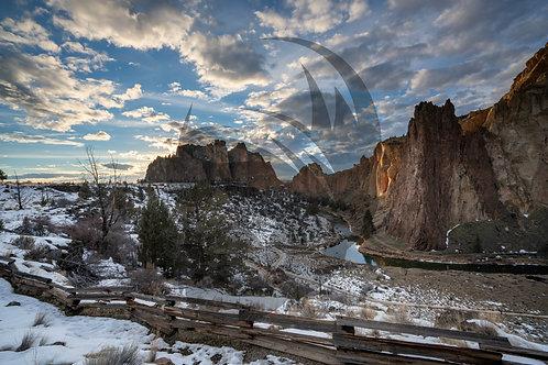 Smith Rock Winter Sunset