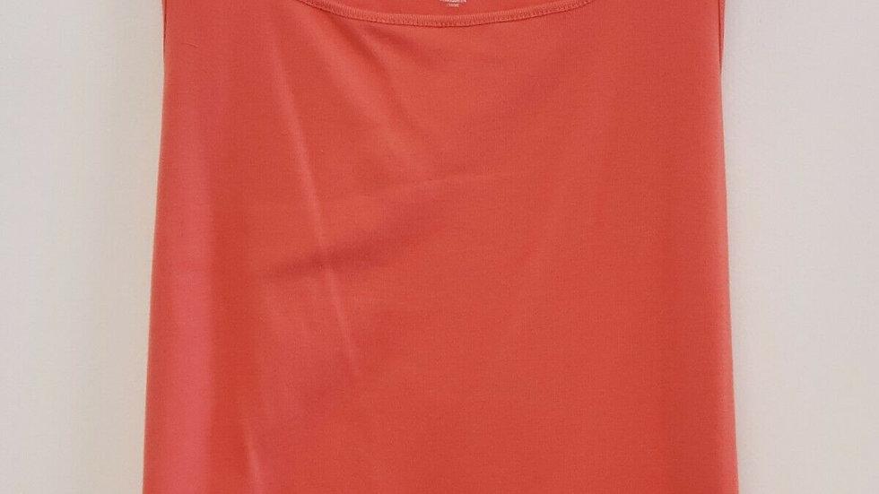 Ruby Rd Favorites Square Neck Sleeveless Coral Orange Top Tank
