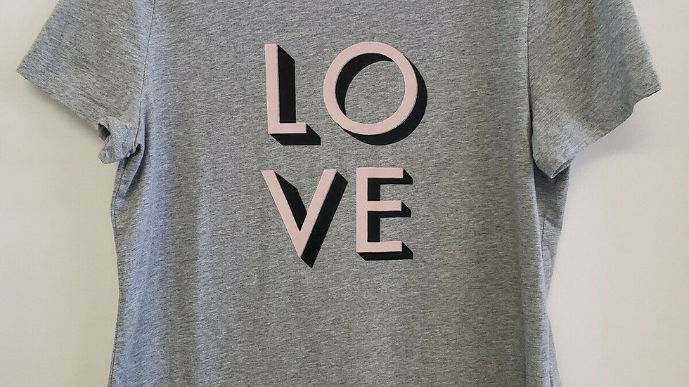 Banana Republic LOVE Gray Crew Neck Short Sleeve Tee Top