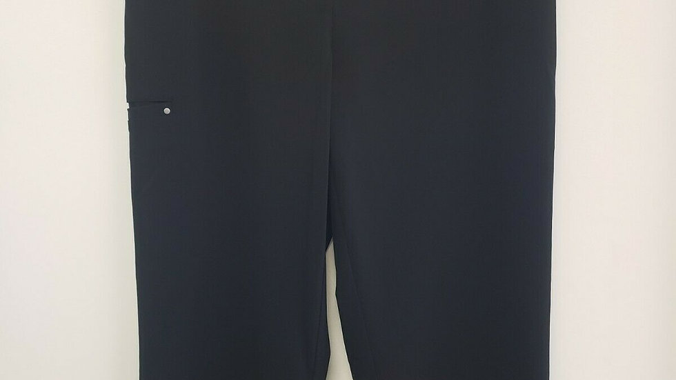 Weekend's by Chico's Black Multi Pocket Capri Pant
