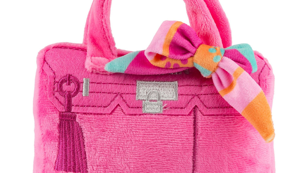 Barkin Bag - Pink w/ Scarf (Rich Bitch)