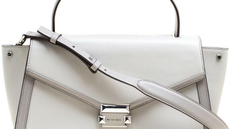 ~Beautiful~ Michael Kors Grey Leather Whitney Top Handle Satchel