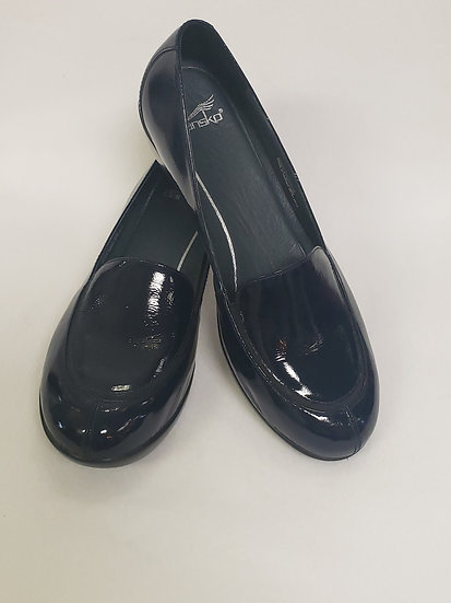 Dansko Debra Navy Patent Leather Loafer  Comfort Style Size 38