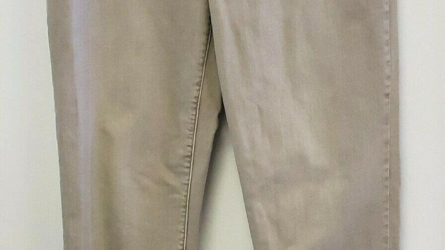 Chico's Platinum Denim Tan Stretch 5 Pocket Jeans