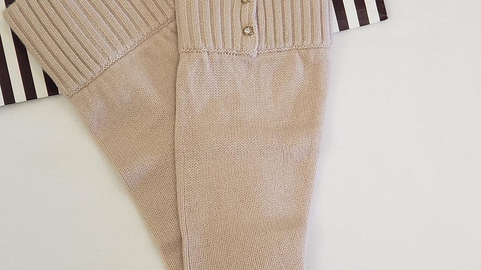 Henri Bendel Taupe Beige Iconic Cashmere Leg Warmer