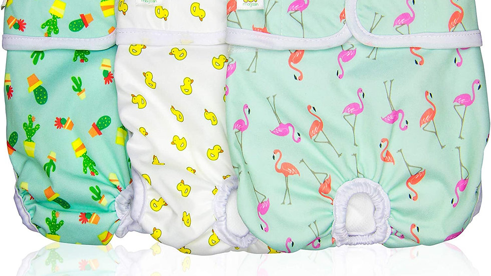 Luxury Reusable Female Dog Diapers (3-Pack)