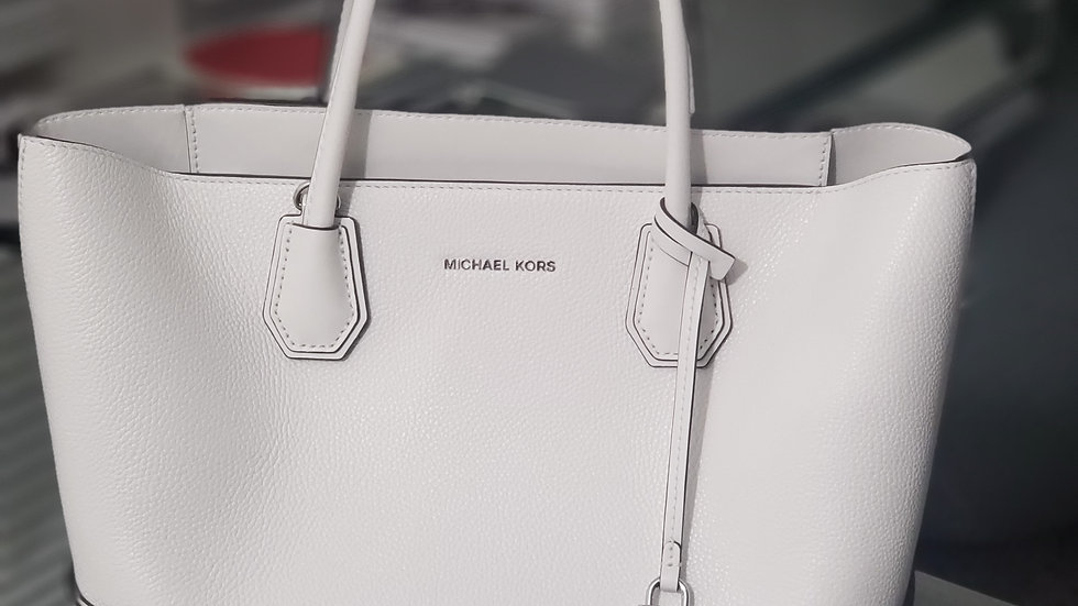 Michael Kors Mercer Gallery Kors Studio Optic White Tote