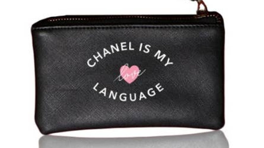 CHANEL IS MY LOVE LANGUAGE VEGAN POUCH