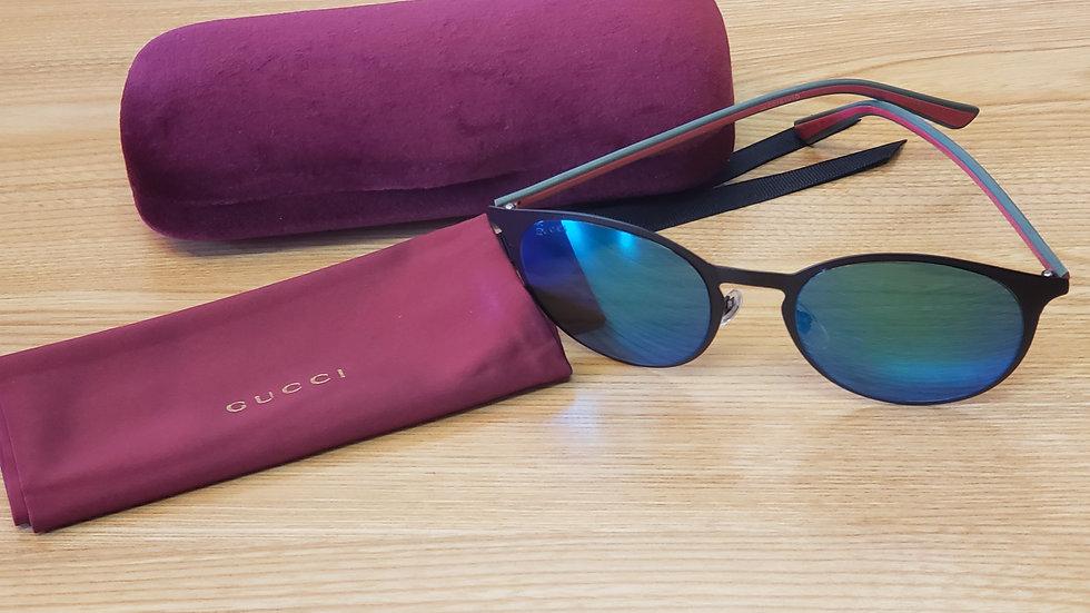 Gucci Green Metal Unisex Sunglasses GG0504S-001 MSRP $365.00 52 / 21 - 145mm