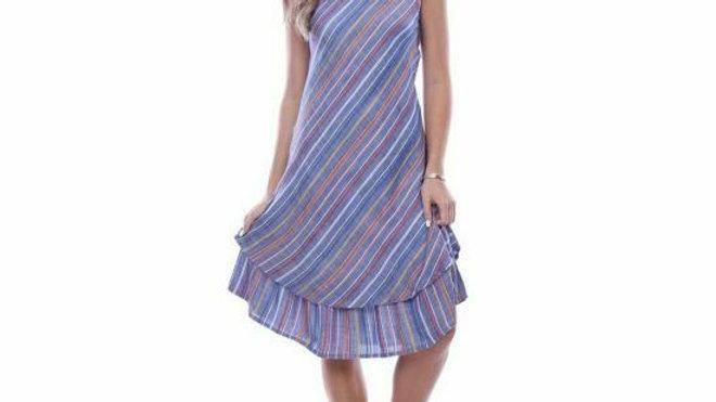 Parsley & Sage Gretchen Dress Muted V-Neck Flowy Hem