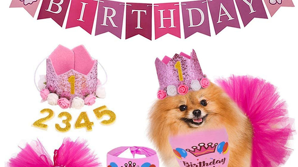 Birthday Party Supplies Decorations (Pink)