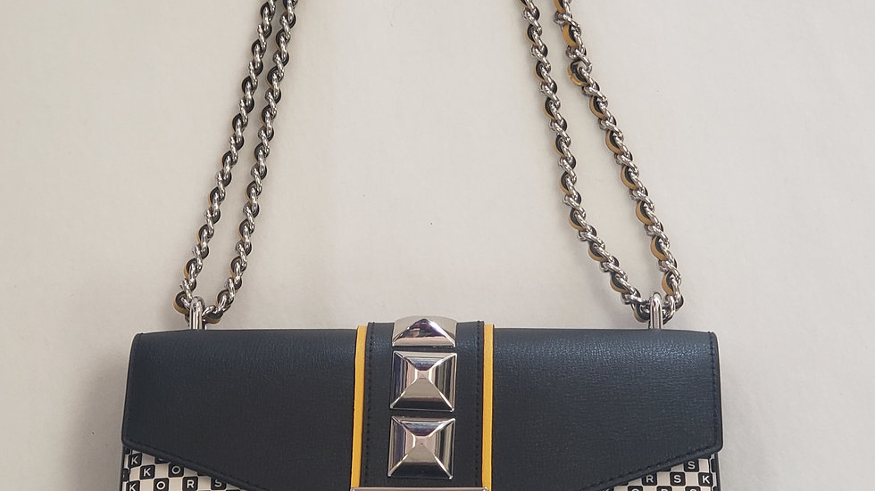 Michael Kors New York City Rose Medium Flap Shoulder Bag Leather Crossbody