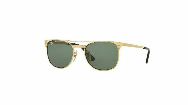 Ray-Ban RJ9540S 223/9A 49 - 17 Gold Poloraized Sunglasses With Case