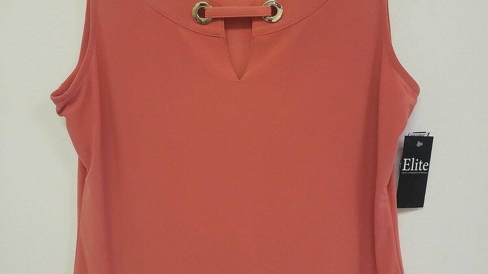 Tommy Hilfiger Coral round Neck Front Cut Out Sleeveless Knit Top
