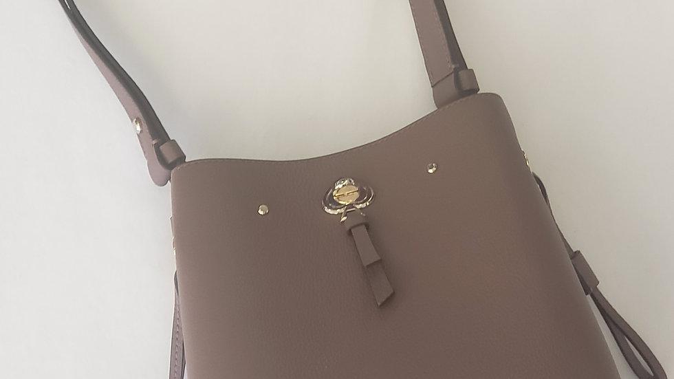 Kate Spade New York Bucket Small Eva Bag Pebble Leather Taupe WKRU7063