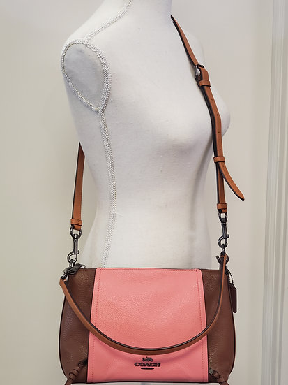 Coach C1598 Small Marlon Shoulder Bag in Colorblock