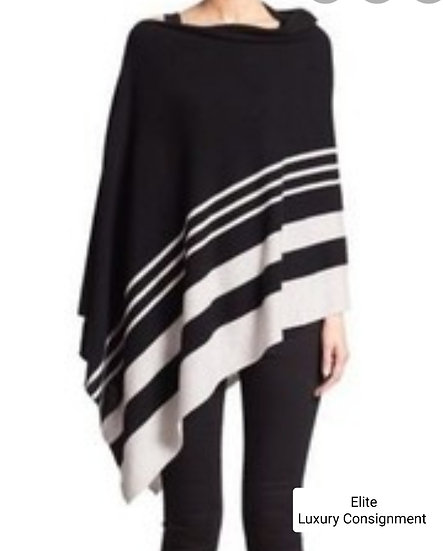 Saks 5th Avenue Collection Striped Cashmere Poncho