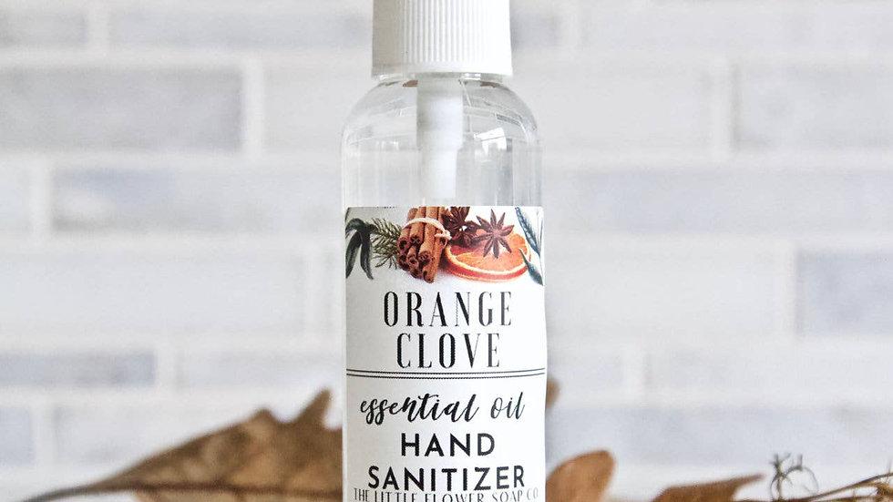 Hand Sanitizer Spray 2oz Bottle Orange Clove