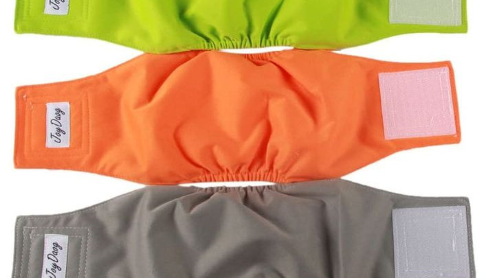 Reusable Belly Bands for Male Dogs,5 Pack Premium Male Puppy Nap Wraps