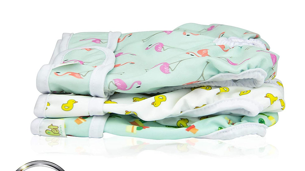 Reusable Washable Dog Diapers (Pack of 3), Highly Absorbent with Strong & Flexib