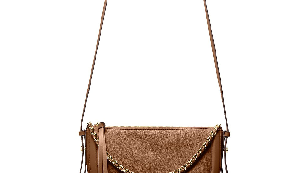 Michael Kors Jagger Crossbody Luggage Brown/ Gold Hardware