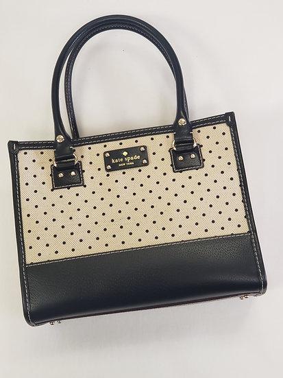 Kate Spade Wellesley Quinn Medium Satchel White w/Black Polka Dot  Bag