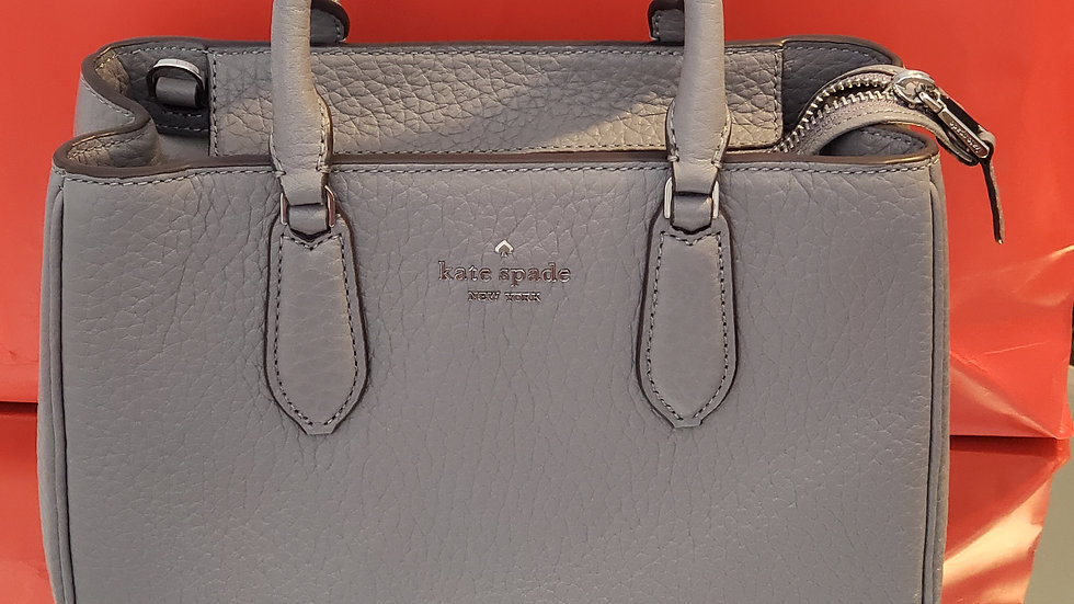Kate Spade New York Leighton Small Satchel Gray Cat WKR0098
