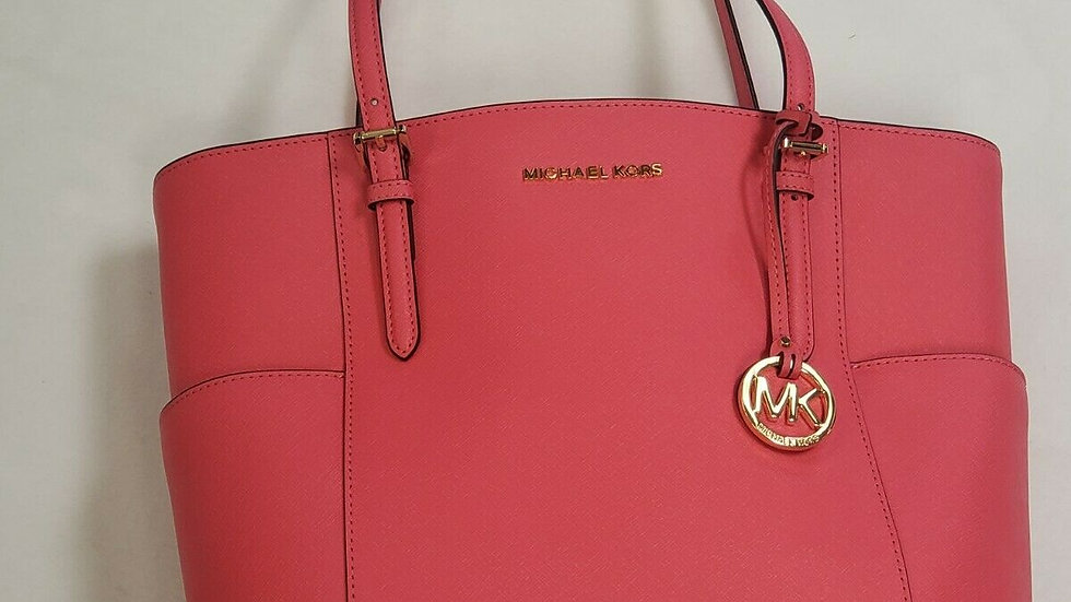 Michael Kors MK Jet Set Item E/W Top-Zip Tote (Rose Pink) New With Tags