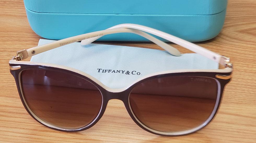 Tiffany & Co. Brown & Rose Gold Women's Sunglasses w/ Box TF 4061 56/17-138mm