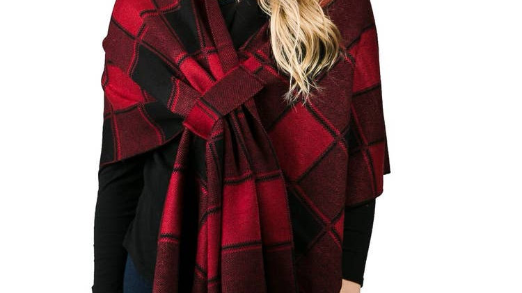Top It Off Katie Red Buffalo Plaid