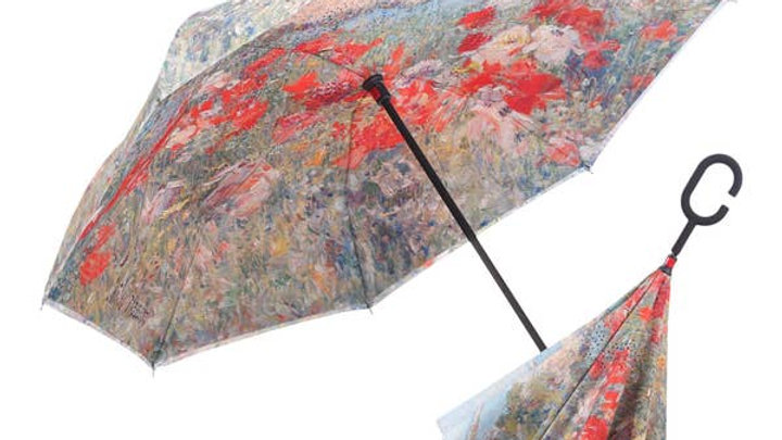 Hassam Celia's Garden/Isles of Shoals Reverse Umbrella