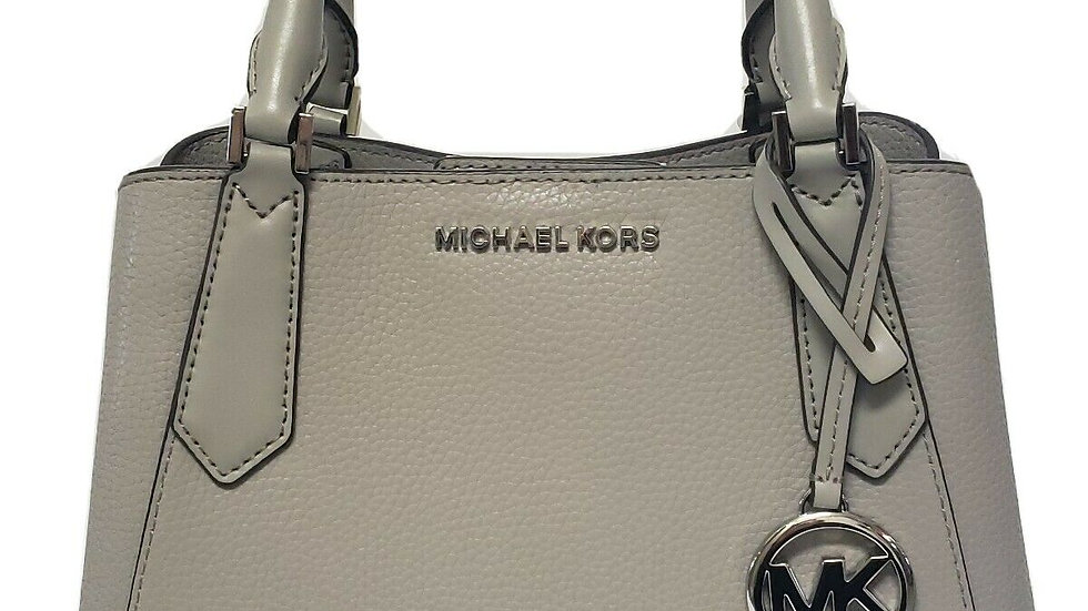 Michael Kors Pearl Grey Camille Small Satchel Crossbody