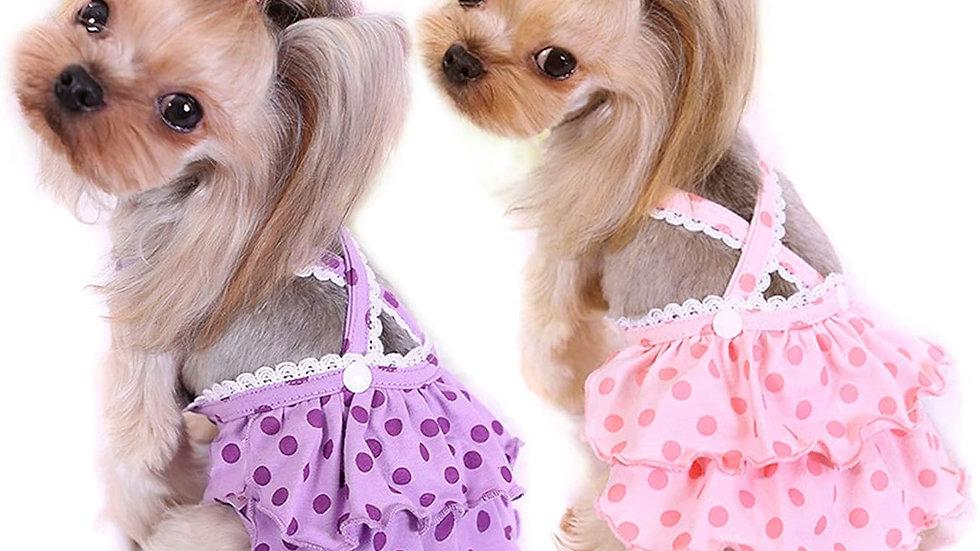 2-Piece Suspender Diaper Set for Girl Dogs