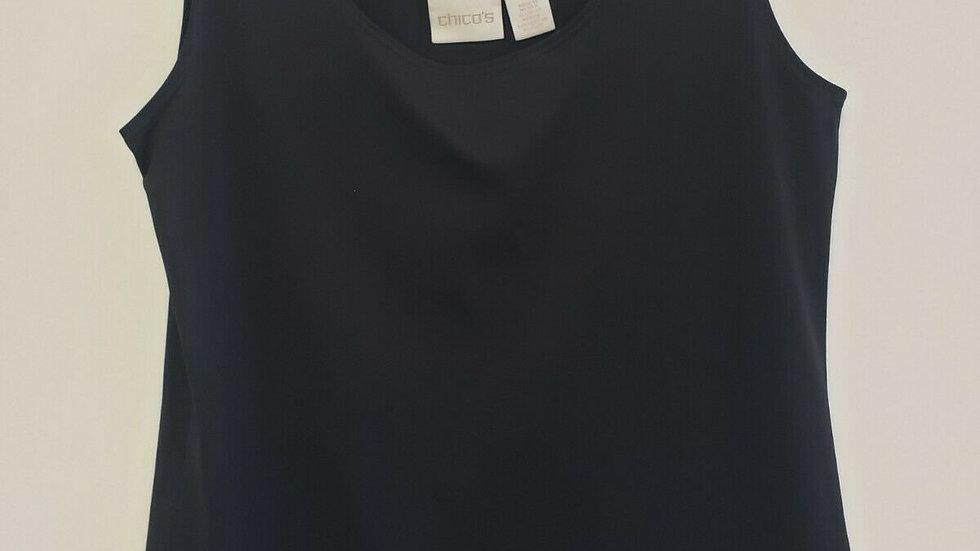 Chico's Black Round Neck Sleeveless Contemporary Knit