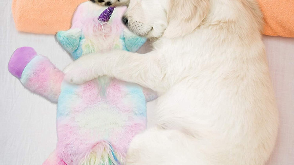 Unicorn Plush Heartbeat Toy   for Anxiety Relief Newborn Puppy
