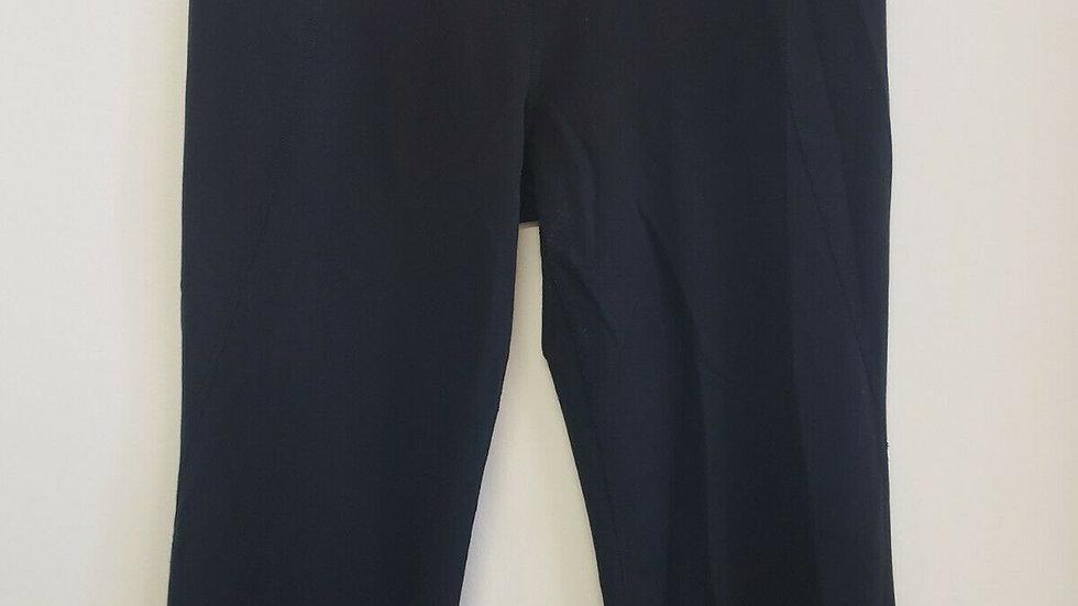 Lululemon Black with Pink Waist Band Inside Front Waist Pocket Crop Legging
