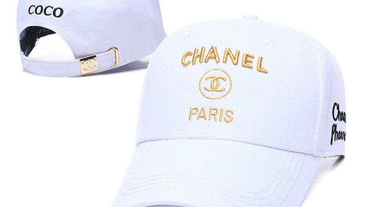Chanel Gold Logo Embroidered Baseball Cap / Hat