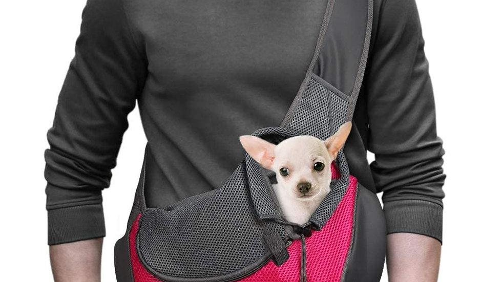 Pet Dog Sling Carrier Breathable Mesh Travel Safe Sling Bag Carrier Orange