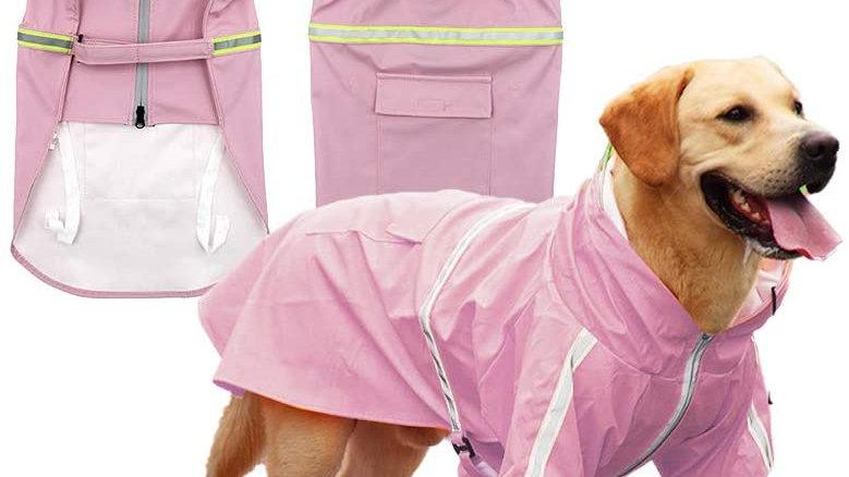 Casual Light Pet Raincoat with Hood