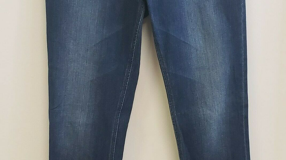 DL1961 Washed Blue Emma 4Way Stretch 360 Comfort Flat Front Jeans