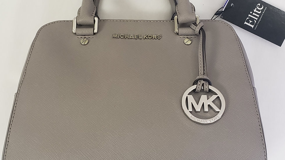 Michael Kors Pearl Gray Jet Set Satchel Speedy Boston Bag