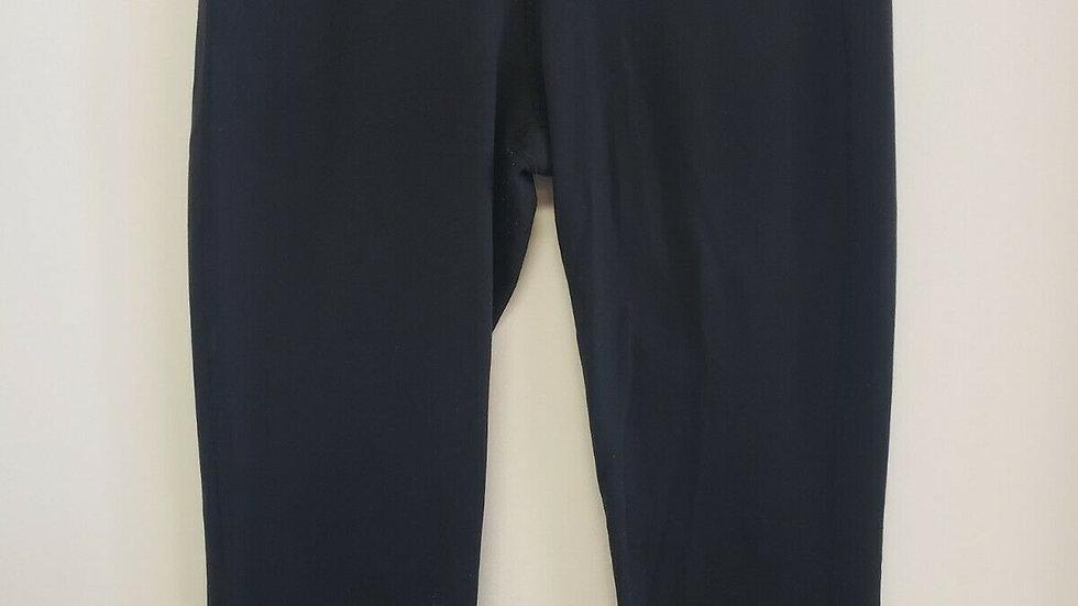 Lululemon Black with Purple Waist Band Inside Front Waist Pocket Crop Legging